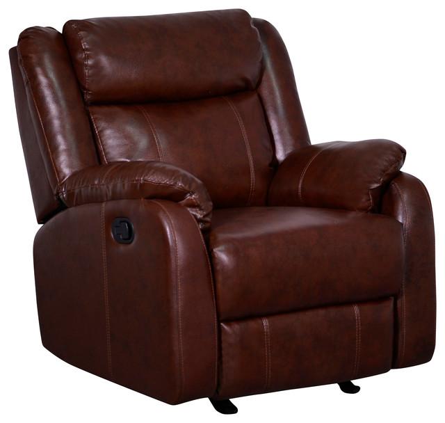 Global Furniture Glider Recliner, Brown by Global Furniture USA