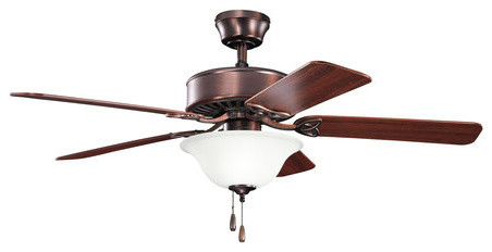 Kichler Renew Select 50 Indoor Ceiling Fan With 5 Blades Oil Brushed Bronze.
