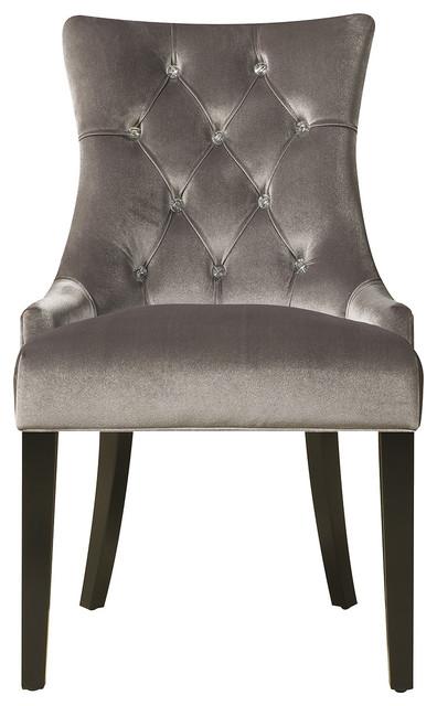 Topanga Dining Chair, Chrome Velvet.