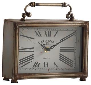 Wooden Carriage Desk Clock