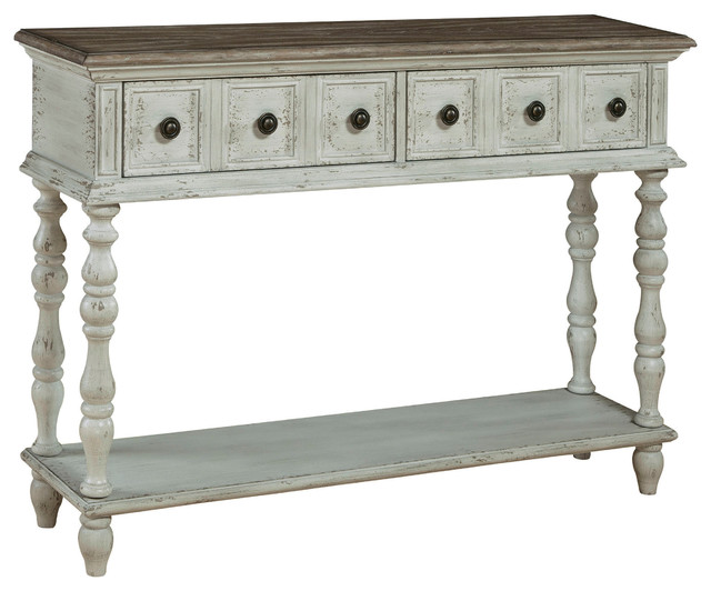 Montauk Weathered Console Table.