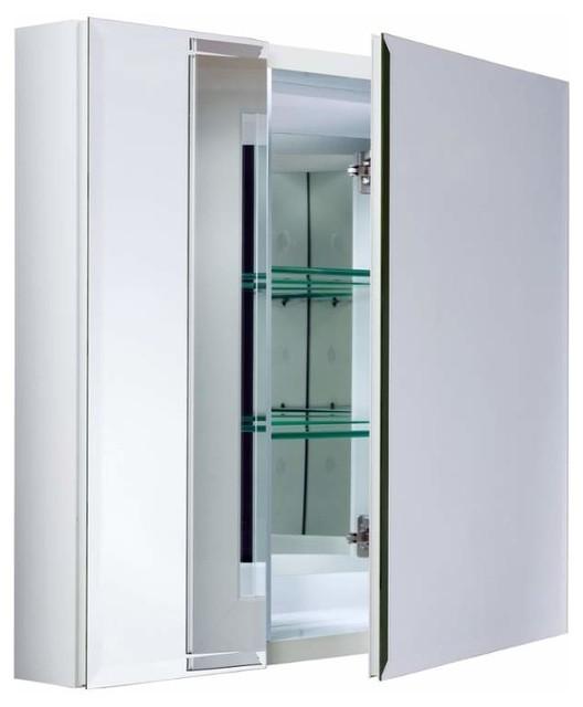 "Miseno Mbc2630 Dual Mount 26"" X 30"" Beveled Double Door Medicine Cabinet."