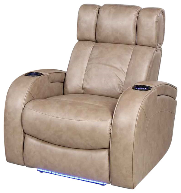 Row One Andromeda 2 Arm Power Recliner Dura Gel Fabric, Taupe