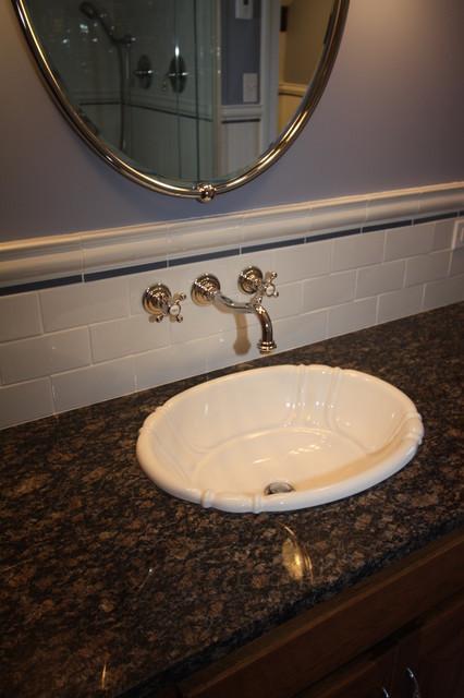 Subway Tile Backsplash Traditional Bathroom Cleveland By Impressive Tile Backsplash In Bathroom