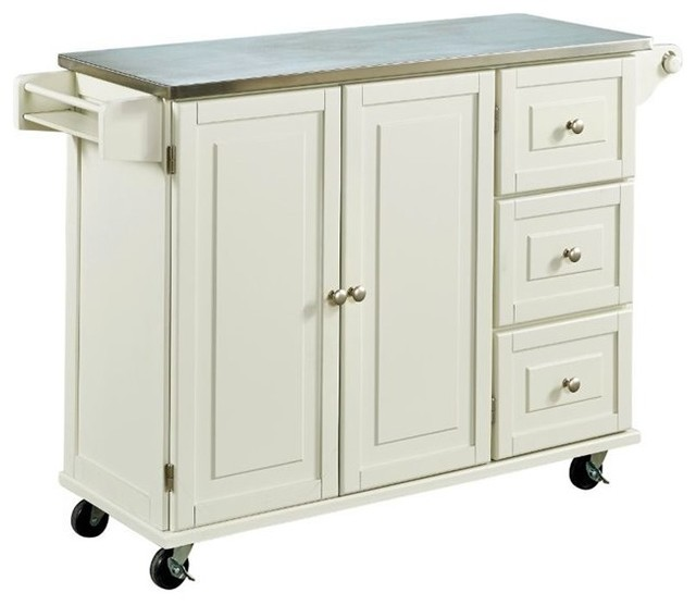 Hawthorne Collections Hawthorne Collections Stainless Steel Top Kitchen Cart