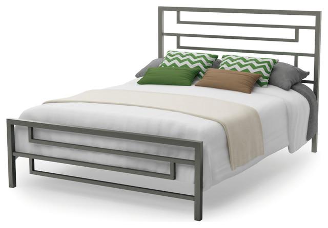 Amisco Amisco Temple Metal Headboard & Footboard - Platform Beds ...