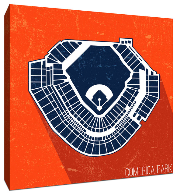 Comerica Park MLB Seating Map Canvas 20\