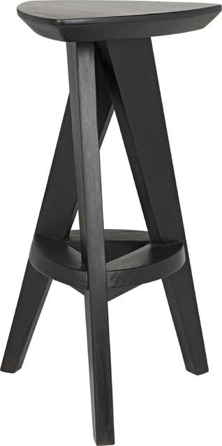 Twist Counter Stool - Charcoal Black
