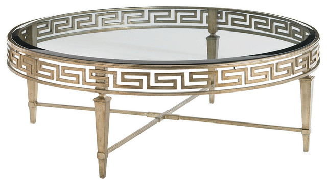 Lexington Tower Place Deerfield Round Cocktail Table 706 943 Transitional  Coffee Tables