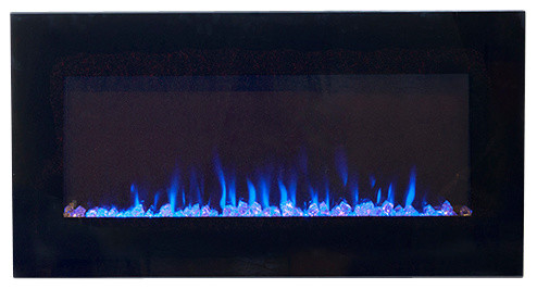 "Northwest Led Fire And Ice Electric Fireplace With Remote, 36""."