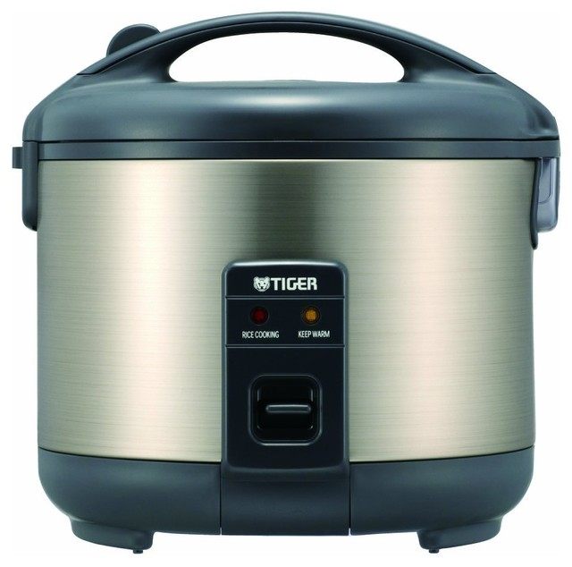 Tiger Electric 10 Cup Rice Cooker And Warmer With Stainless Steel Finish.