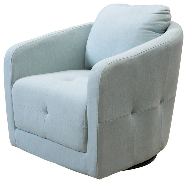 South Hampton Light Blue Swivel Chair Contemporary Armchairs And Accent  Chairs