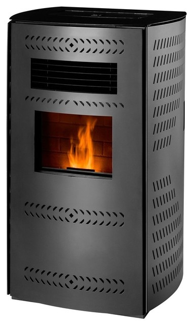 Free Standing  Pellet Stove With Auto Start/blower, 2,200 Square Ft., 80 Lb. Hop.
