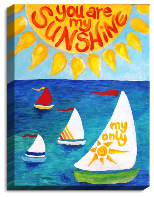 Dianoche Canvas Wall Art By Njoy Art You Are My Sunshine Sail.