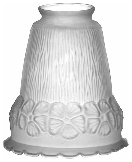 Renovator S Supply White 5 1 2 X 4 Flower Bell Frosted Gl Lamp Shade Traditional Shades By