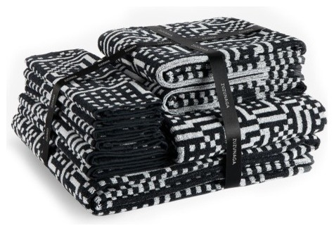 black and white bathroom towel sets zuzunaga route black and white towel set modern bath 25118
