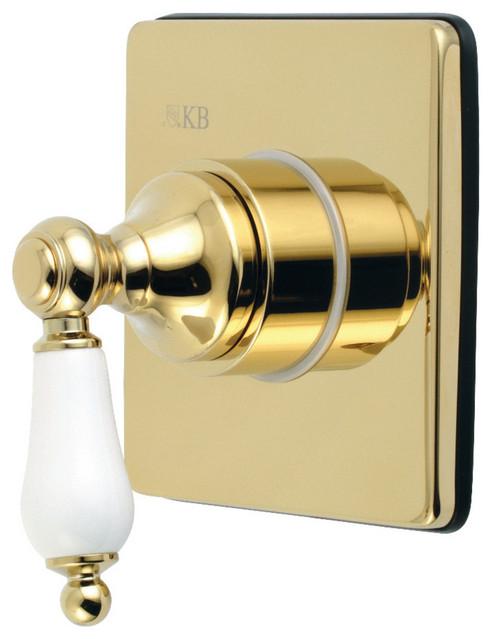 Ks3042pl Single Handle Three Way Diverter Valve Trim Kit Polished Brass Traditional Tub And Shower Parts By Virventures