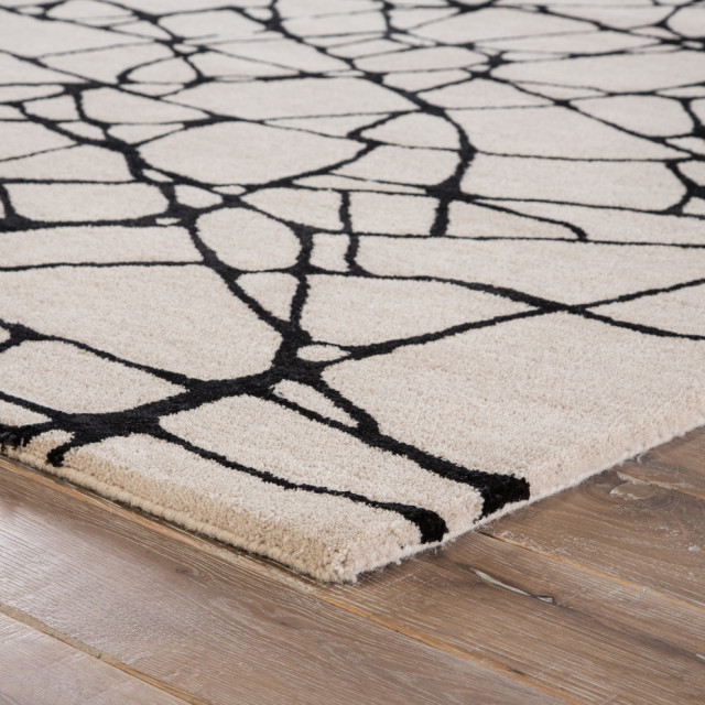 Nikki Chu By Jaipur Living Chandler Handmade Abstract Cream Black Area Rug Contemporary Area Rugs By Jaipur Living Houzz