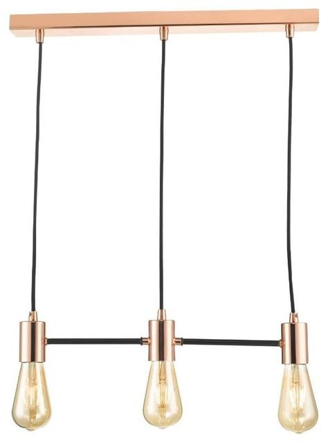 Leon 3-Light Ceiling Light, Copper