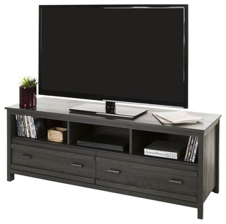 TV Stand, Gray Oak Finish
