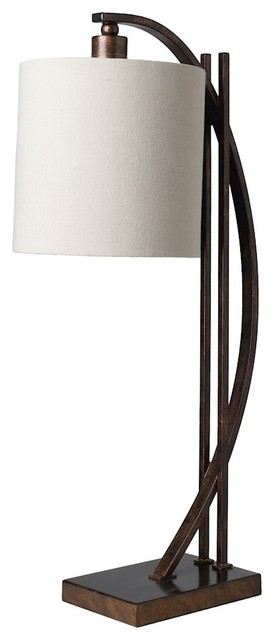 Beaufort Table Lamp By Surya, Bronze Base, BEU 100 Craftsman Table