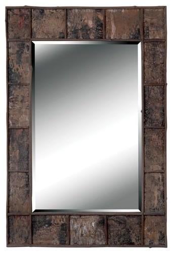 Kenroy Home 61002, Birch Wall Mirror, Natural Birch Bark.