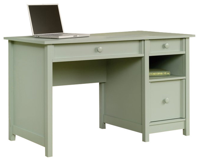 Sauder Original Cottage Desk In Rainwater Desks