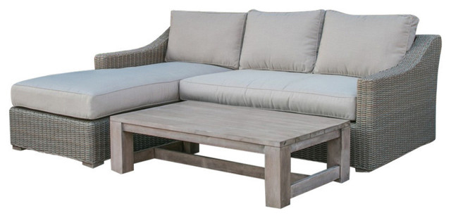 Renava Seacliff Outdoor Wicker Sectional Sofa Set