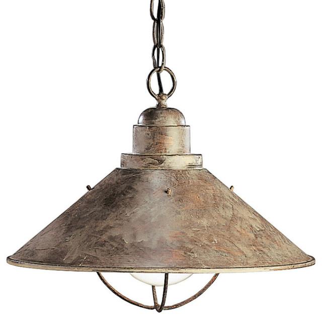 Kichler kichler seaside one light down pendant view in for Coastal style lighting