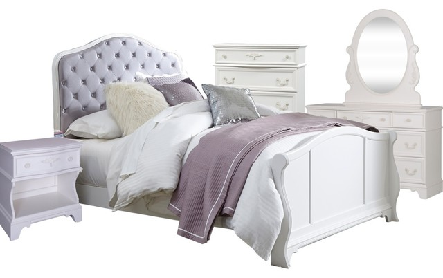 Liberty Furniture Arielle 5-Piece Panel Bedroom Set - Option 1, Twin by Liberty Furniture Industries, Inc.
