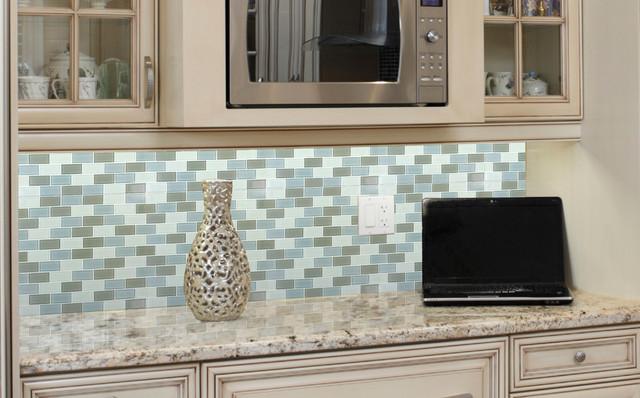 Majestic Ocean Gl Mosaic Kitchen Traditional Orange County