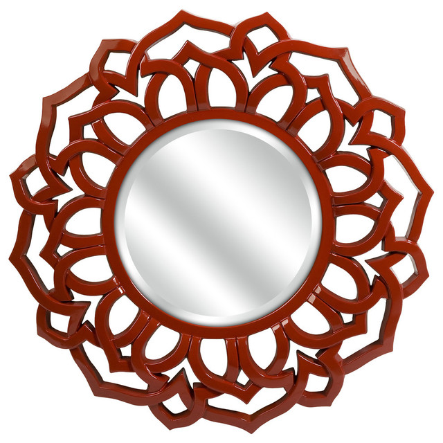Red Wall Mirror calantha red wall mirror - contemporary - wall mirrors -imax