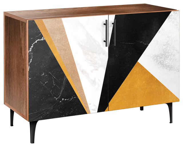 Credenza Per Hume : Glamorous geometry arc credenza contemporary buffets and