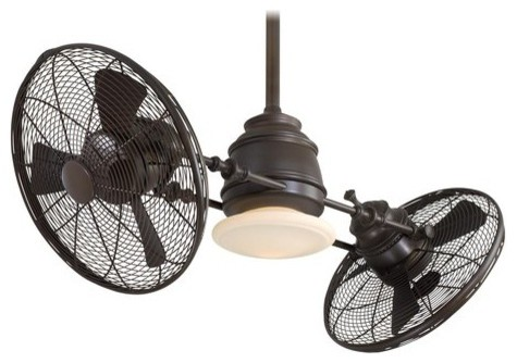 "Minka Aire Vintage Gyro 42"" Ceiling Fan With Wall Control, Oil Rubbed Bronze."