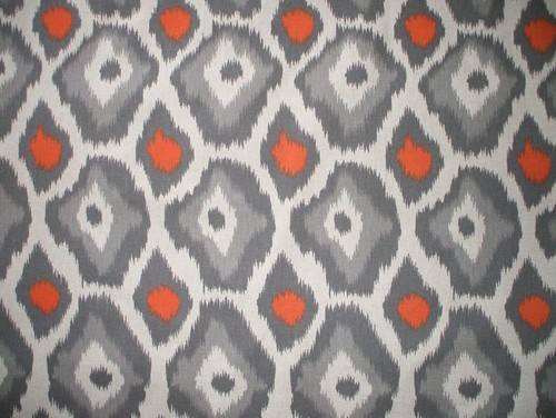 Just Confirming This Gray Ikat Shower Curtain Is W X L - Gray and orange shower curtain