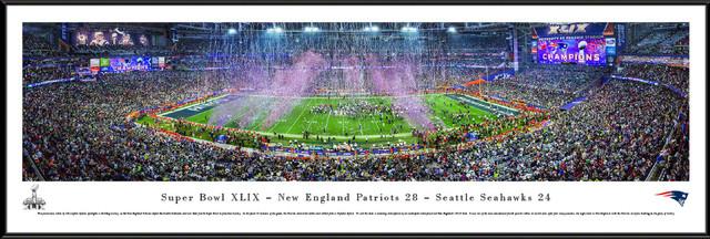 2019 Patriots Super Bowl Xlix Panoramic Poster Print