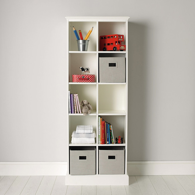 classic 10 cube storage unit bookcases by the white company. Black Bedroom Furniture Sets. Home Design Ideas