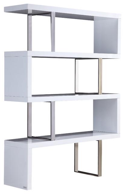 Scala Collection Bookcase By Talenti Casa High Gloss White Lacquer Contemporary Bookcases