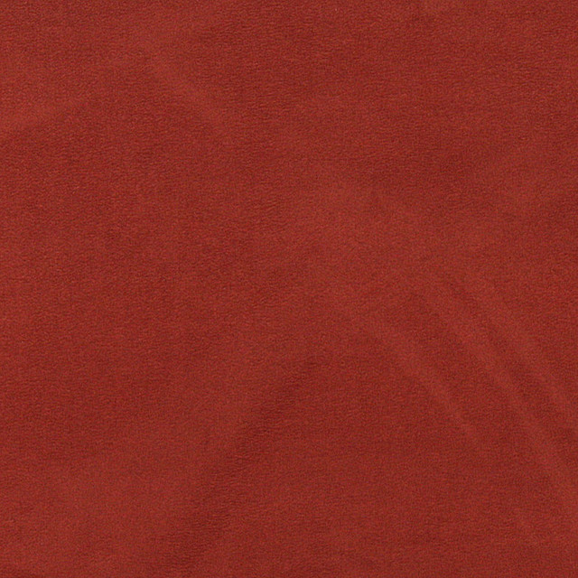 Red-Orange Microsuede Suede Upholstery Fabric By The Yard