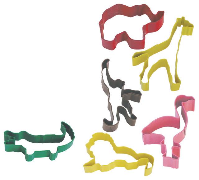 6-Piece Safari Animal Cookie Cutter Set.