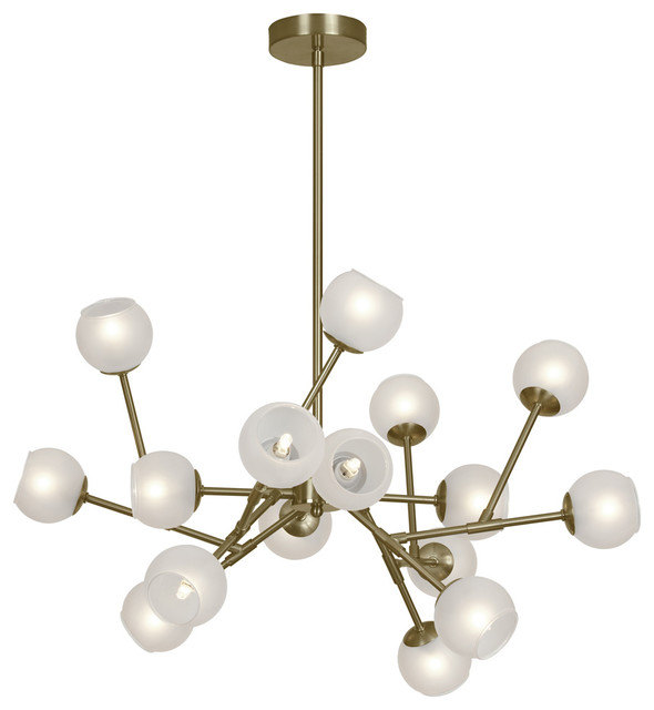 Dainolite Ltd 16Light Chandelier Frosted Glass Balls – Chandelier Glass Balls