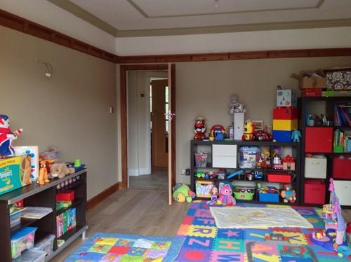 Need Help For Kids Playroom art Corner Lights Blinds