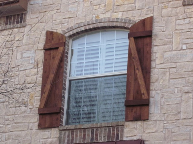 Custom Wood Exterior Shutters - Dallas - by Texas Best Fence