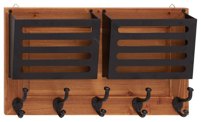 Wood And Meta Letter Holder Hooks