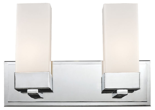 Z Lite Sapphire Contemporary Chrome 2 Light Bathroom Vanity Light