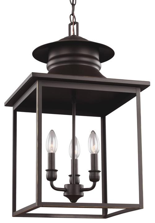 3-Light Hal-Light/Foyer, Heirloom Bronze