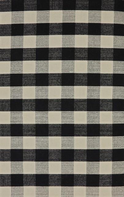 Royal Rug, Black/white, 8&x27;x10&x27;.