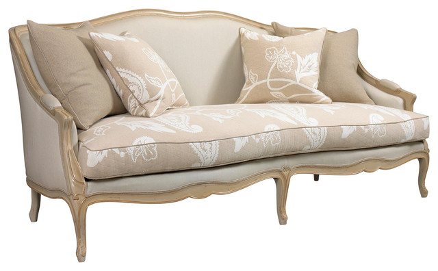 Chambery French Country Beige Ivory Paisley Upholstered .