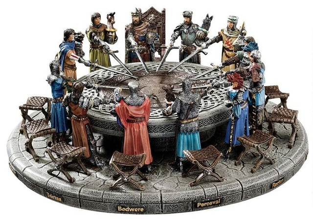 5 Quot Medieval King Arthur And Knights Of Round Table Statue