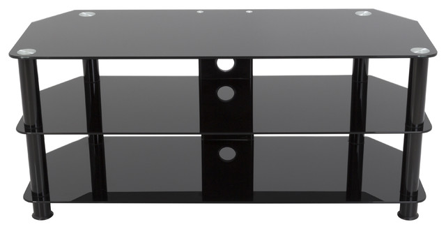 """Tv Stand, Cable Management, Up To 55"""" Tvs, Black Legs."""